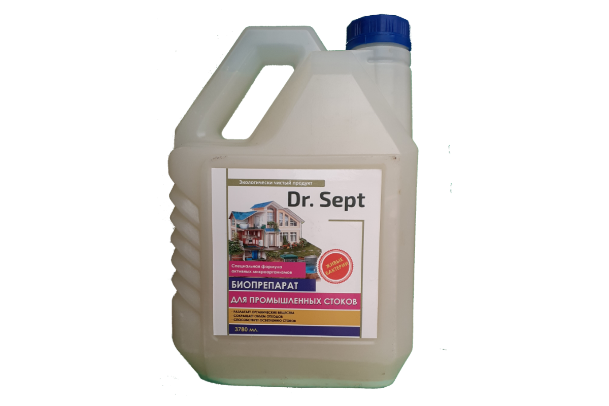 """Средство для промышленных очистных сооружений """"Dr. Sept"""" 4 000 мл"""